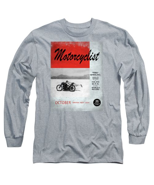 Motorcyclist Magazine - Rollie Free Long Sleeve T-Shirt by Mark Rogan