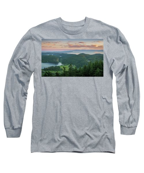 Mount Erie Viewpoint Long Sleeve T-Shirt by Ken Stanback