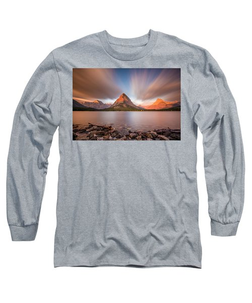 Mount Grinnell Sunrise Long Sleeve T-Shirt