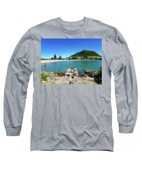 Mount Maunganui Beach 8 - Tauranga New Zealand Long Sleeve T-Shirt