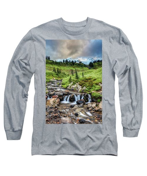 Long Sleeve T-Shirt featuring the photograph Mount Rainier's Edith Creek by Pierre Leclerc Photography