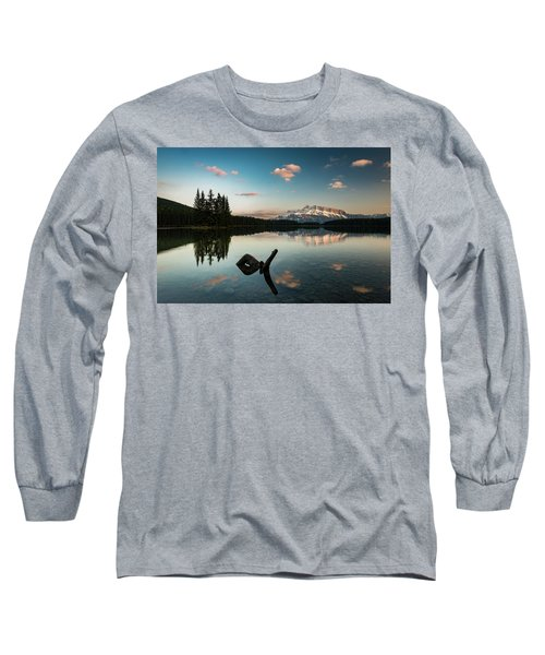 Mount Rundle And Two Jack Lake Long Sleeve T-Shirt