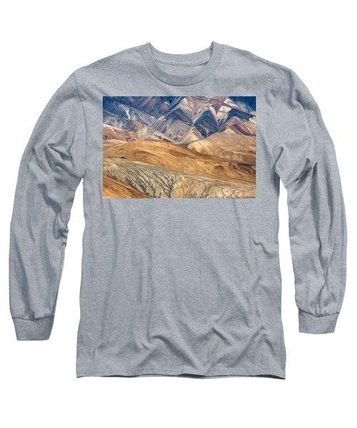 Mountain Abstract 4 Long Sleeve T-Shirt