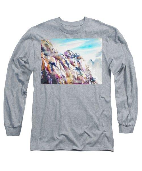Mountain Awe #1 Long Sleeve T-Shirt by Betty M M Wong