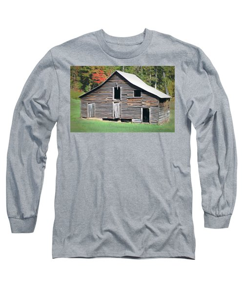 Long Sleeve T-Shirt featuring the photograph Mountain Barn by Marion Johnson