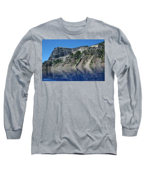 Long Sleeve T-Shirt featuring the photograph Mountain Blue by Laddie Halupa