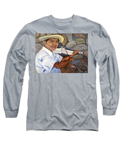 Mountain Fiddler Long Sleeve T-Shirt by Marilyn McNish