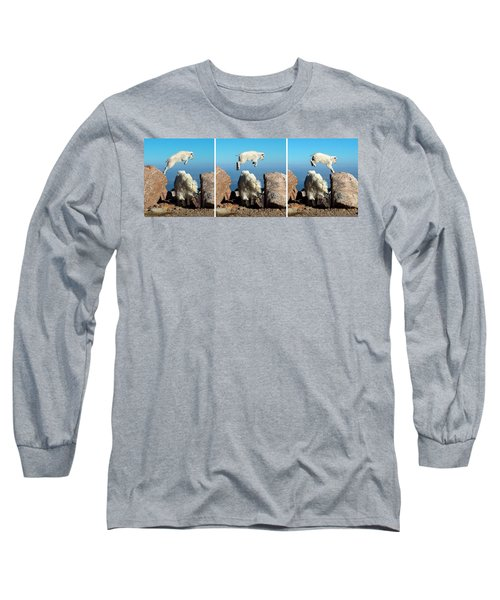 Mountain Goat Leap-frog Triptych Long Sleeve T-Shirt