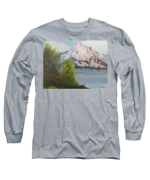 Mountain Lake Long Sleeve T-Shirt by Thomas Janos