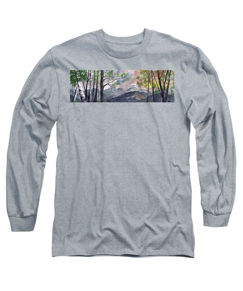 Mountain Morning Long Sleeve T-Shirt by Terry Cork