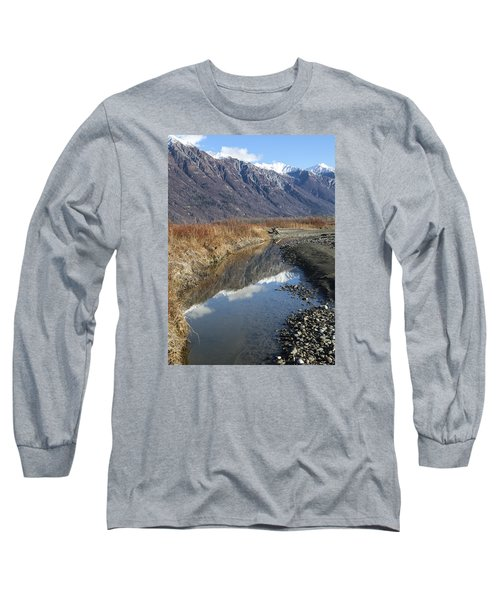 Mountain Reflections In Fall Long Sleeve T-Shirt by Michele Cornelius