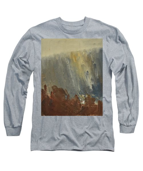 Mountain Side In Autumn Mist. Up To 90x120 Cm Long Sleeve T-Shirt