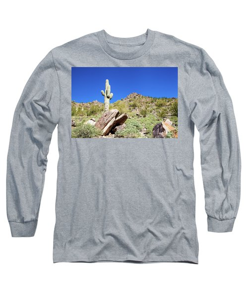 Mountainside Cactus 2 Long Sleeve T-Shirt by Ed Cilley