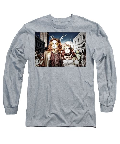 Mr And Mrs Deer Bypass Long Sleeve T-Shirt by Jack Torcello