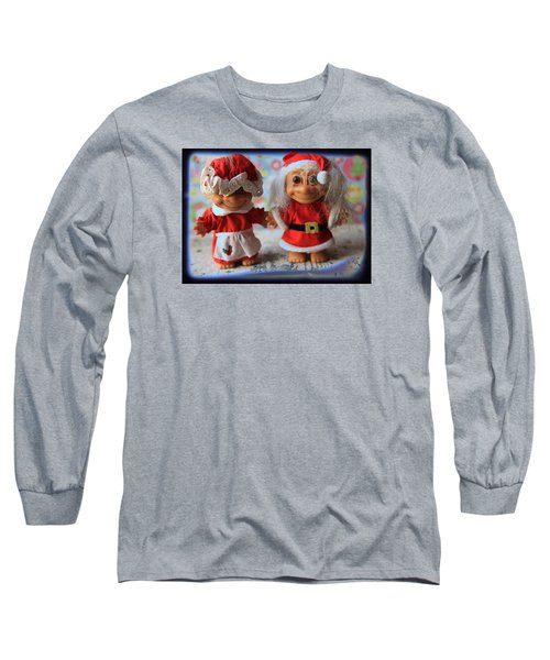 Mr And Mrs Santa Troll Long Sleeve T-Shirt by Toni Hopper