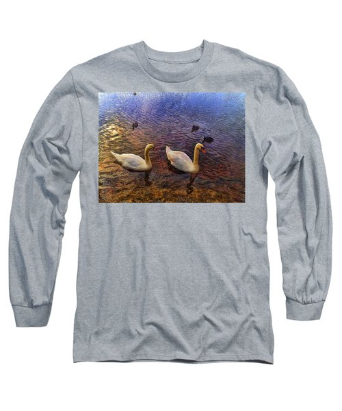 Mr And Mrs Swan Go Viisiting Long Sleeve T-Shirt