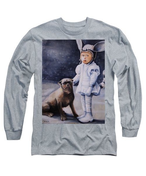 Mr Moonbeams  Long Sleeve T-Shirt by Jean Cormier
