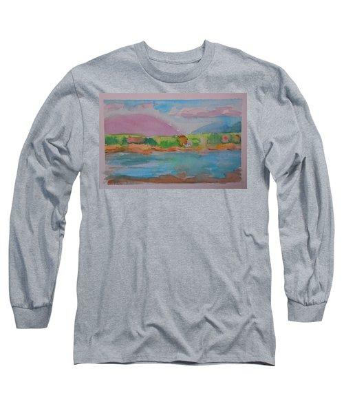 Mt Desert From Marlboro Beach Long Sleeve T-Shirt