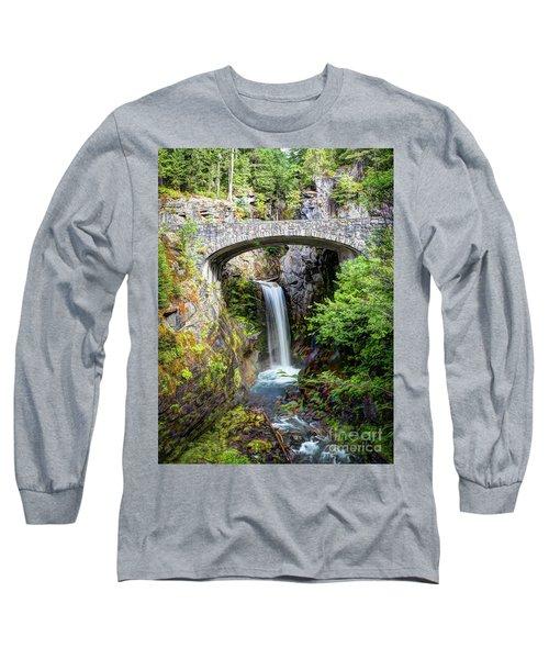 Mt Rainier National Park, Christine Falls Long Sleeve T-Shirt