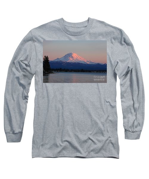 Long Sleeve T-Shirt featuring the photograph Mt Rainier Sunset by Peter Simmons