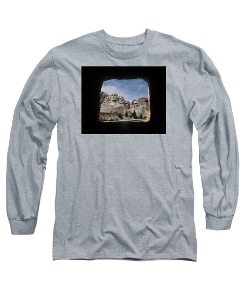 Long Sleeve T-Shirt featuring the photograph Mt Rushmore Tunnel by David Lawson