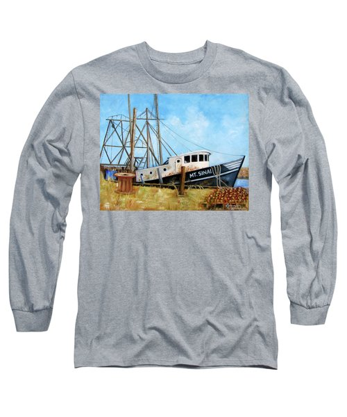 Mt. Sinai Fishing Boat Long Sleeve T-Shirt