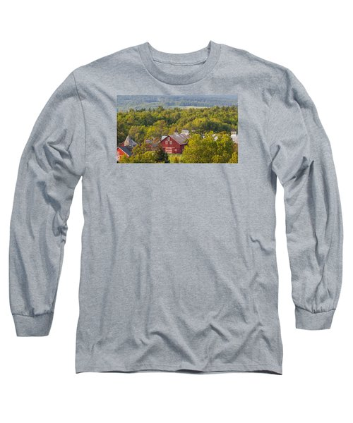 Mt View Farm In Summer Long Sleeve T-Shirt by Tim Kirchoff