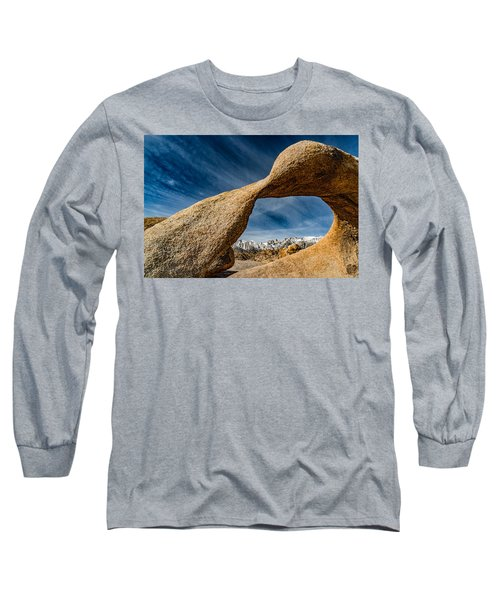 Mt Whitney Through Mobius Arch Long Sleeve T-Shirt
