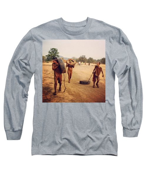 #muddy #mud #mudrun #tires #walking Long Sleeve T-Shirt