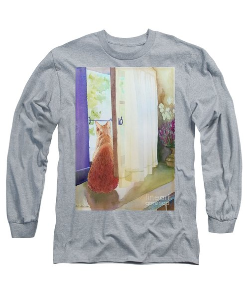 Muffin At Window Long Sleeve T-Shirt