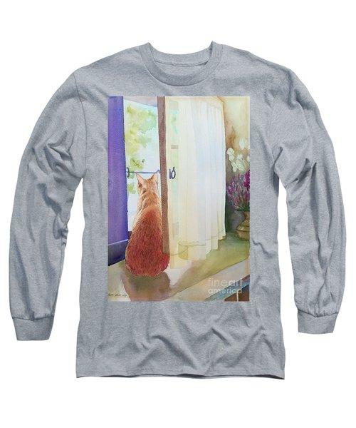 Muffin At Window Long Sleeve T-Shirt