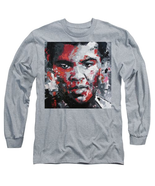 Muhammad Ali II Long Sleeve T-Shirt by Richard Day