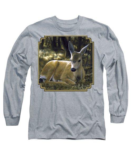 Mule Deer Fawn - A Quiet Place Long Sleeve T-Shirt