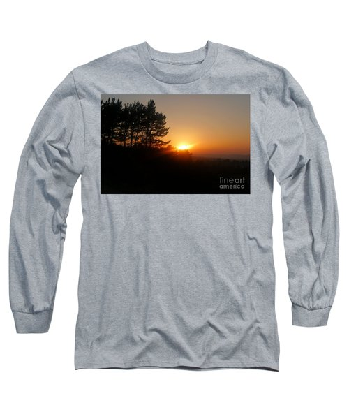 Mulholland Sunset And Silhouette Long Sleeve T-Shirt by Nora Boghossian