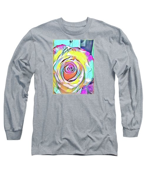 Multi-colored Rose Long Sleeve T-Shirt