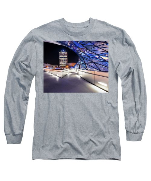 Long Sleeve T-Shirt featuring the pyrography Munich - Bwm Modern And Futuristic by Hannes Cmarits