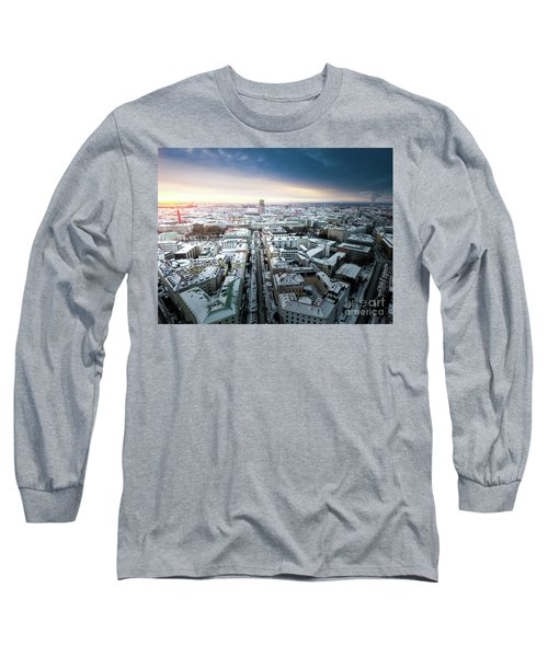 Long Sleeve T-Shirt featuring the photograph Munich - Sunrise At A Winter Day by Hannes Cmarits