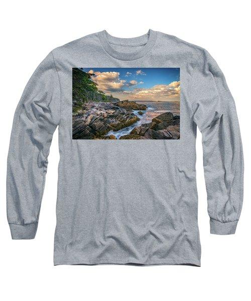 Muscongus Bay Long Sleeve T-Shirt by Rick Berk