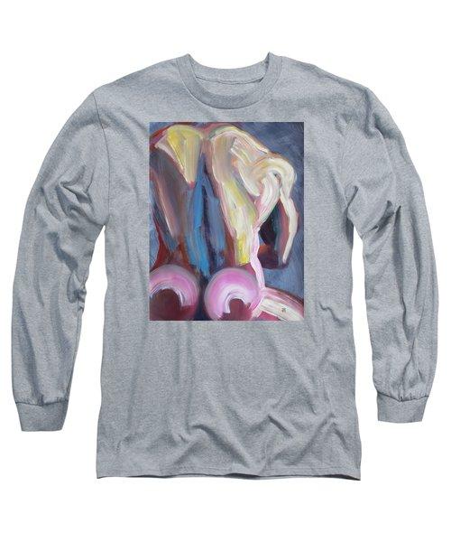 Muscular Back Upright Long Sleeve T-Shirt by Shungaboy X
