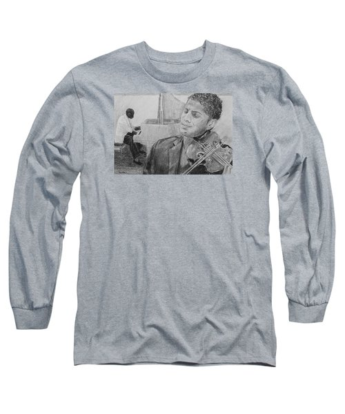 Music For The Soul Long Sleeve T-Shirt by Quwatha Valentine