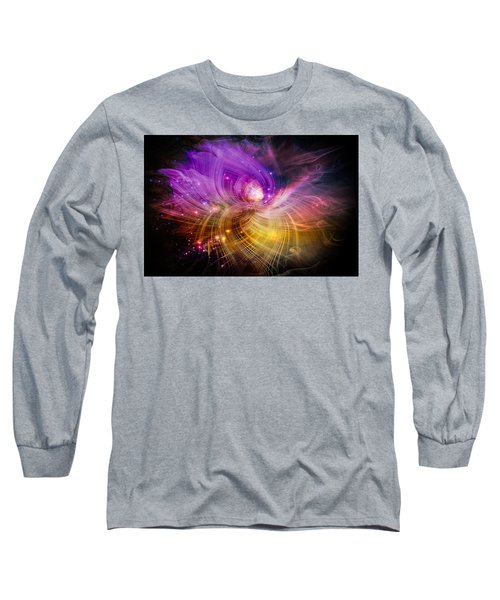 Long Sleeve T-Shirt featuring the digital art Music From Heaven by Carolyn Marshall