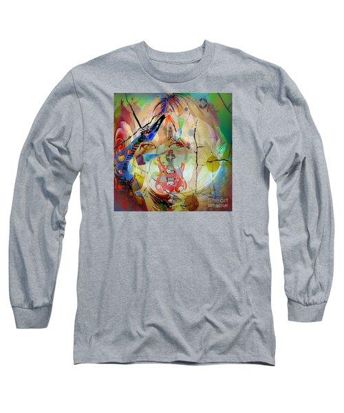 Long Sleeve T-Shirt featuring the digital art Music Girl by Eleni Mac Synodinos