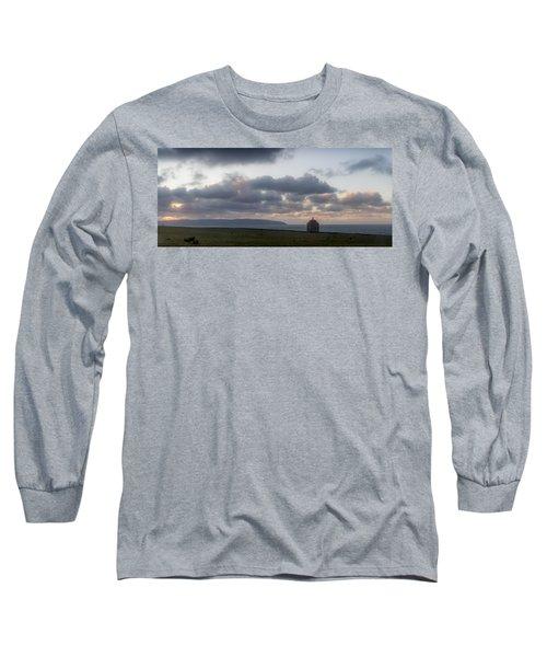 Musseden Temple Sunset Long Sleeve T-Shirt