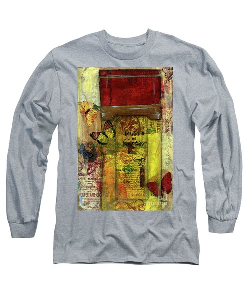Long Sleeve T-Shirt featuring the painting Must De Cartier by P J Lewis