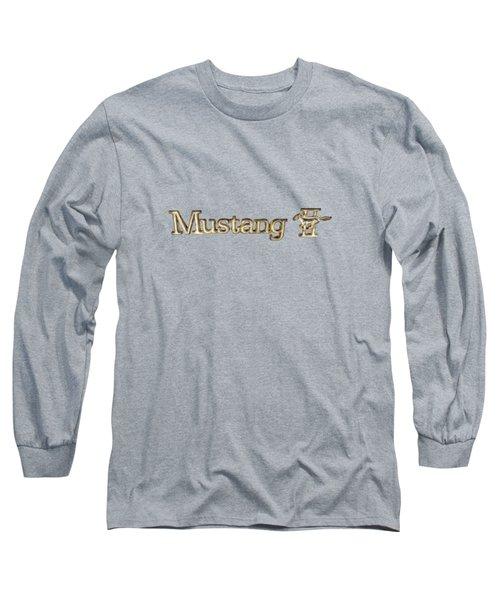 Mustang II Chrome Emblem Long Sleeve T-Shirt