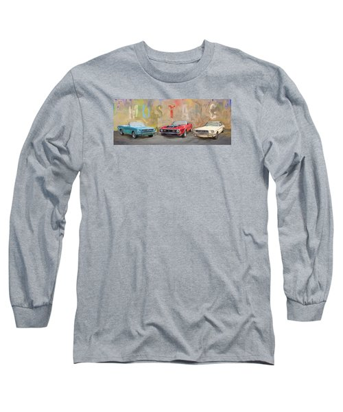 Mustang Panorama Painting Long Sleeve T-Shirt