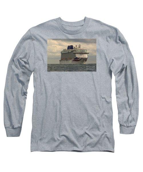 Mv Britannia 2 Long Sleeve T-Shirt by David  Hollingworth