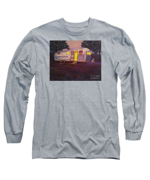 Long Sleeve T-Shirt featuring the painting My Airstream Dream II by Suzanne McKay