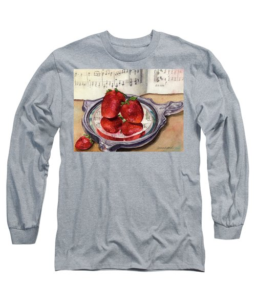 Long Sleeve T-Shirt featuring the painting My Antique Mirror by Anne Gifford