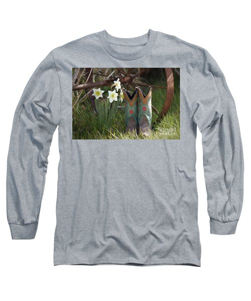 Long Sleeve T-Shirt featuring the photograph My Favorite Boots by Benanne Stiens
